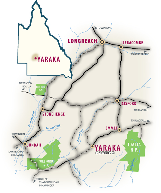 Yaraka map